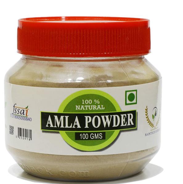 Raintech Organic Amla Indian Gooseberry Powder For Hair Care- 100 Grams