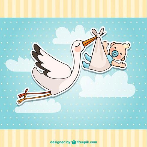tarjeta-de-bienvenida-con-ciguena-y-bebe-by-Saltaalavista-Blog