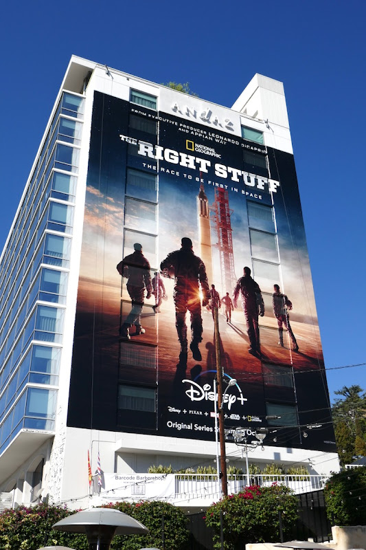 Right Stuff giant series launch billboard