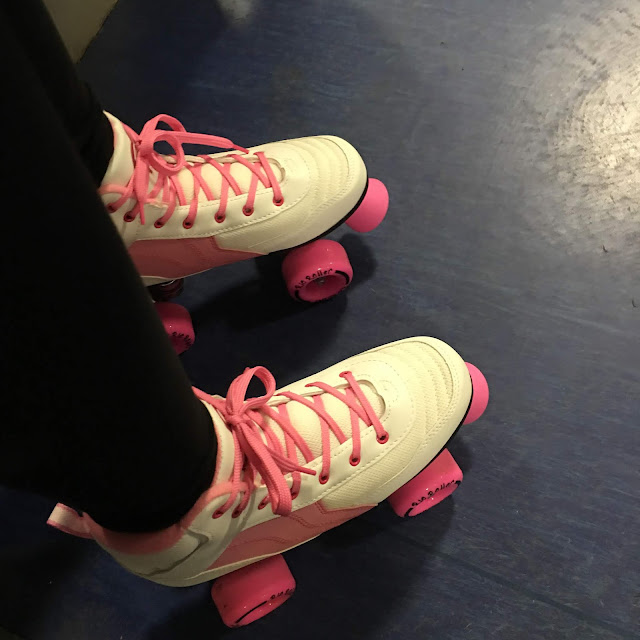stephs two girls roller skates