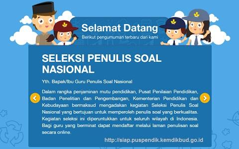 Seleksi Penulis Soal Nasional Tahun 2018 Puspendik Kemdikbud
