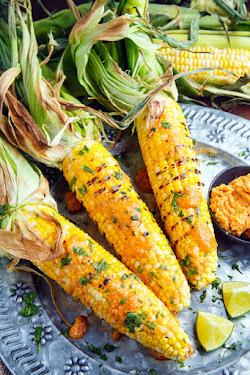 Sriracha Maple Miso Butter Grilled Corn