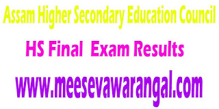 Assam Higher Secondary Education Council HS Final (Arts,Science,Commerce) 2016 Exam Results