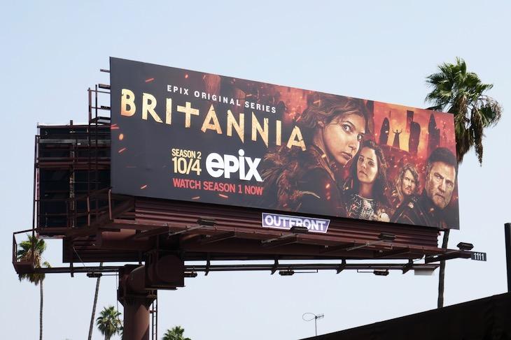 Britannia season 2 Epix billboard
