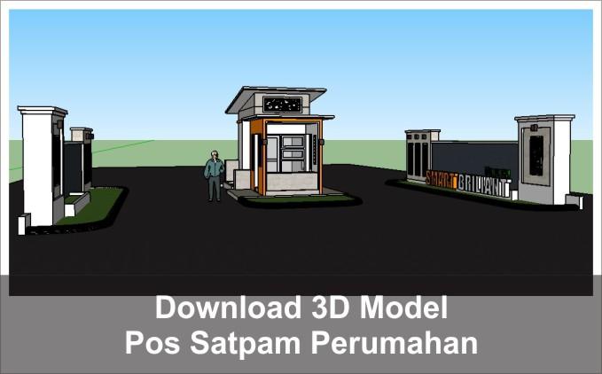 download 3d pos satpam perumahan
