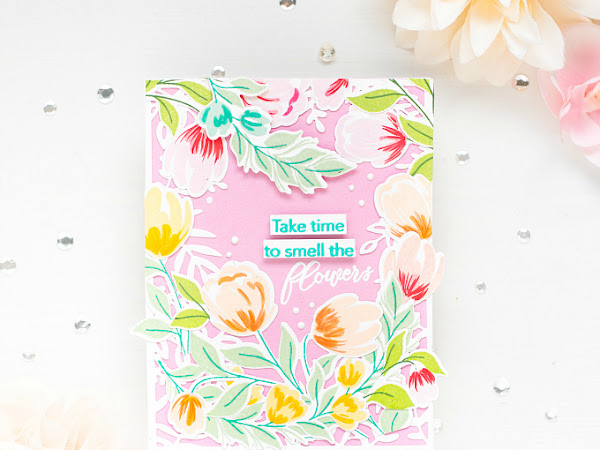 Take Time to Smell the Flowers - Pinkfresh Studio