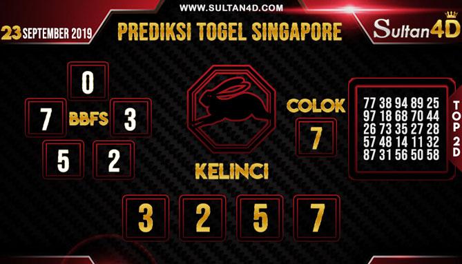 PREDIKSI TOGEL SINGAPORE SULTAN4D 23 SEPTEMBER 2019