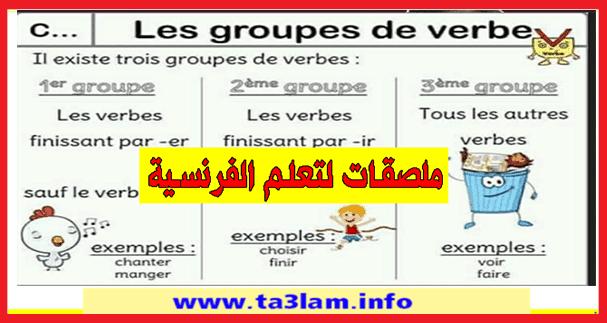 ملصقات قواعد اللغة الفرنسية بطريقة بسيطة