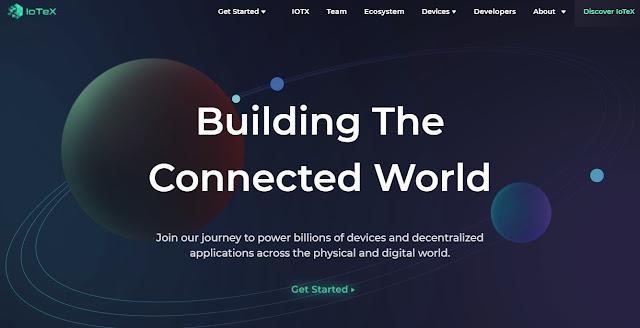 Screenshot Website IoTeX (IOTX)