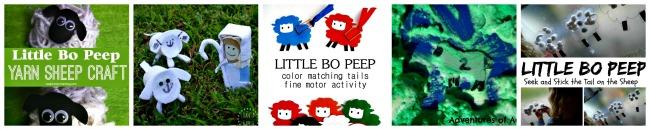 little bo peep nursery rhyme activities