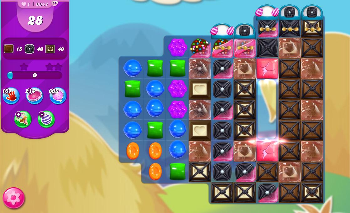 Candy Crush Saga level 6847