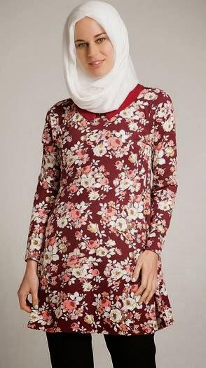 Model baju muslim untuk orang gemuk sederhana
