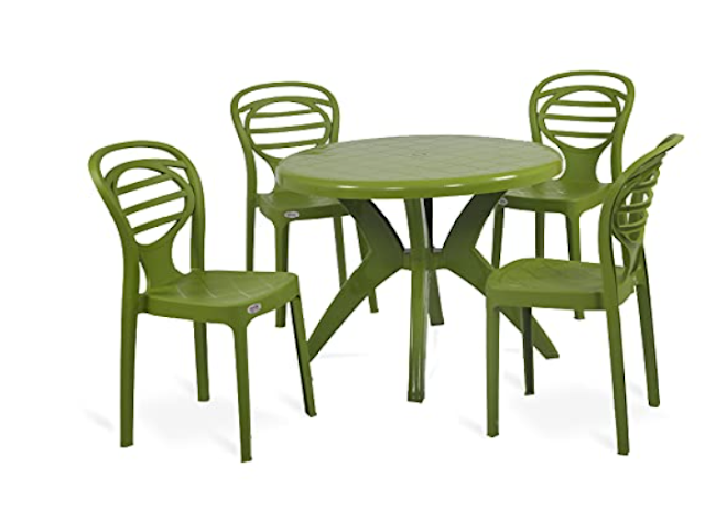 OAKNEST Supreme Oak with Marina Dining Room Set for Indoor and Outdoor