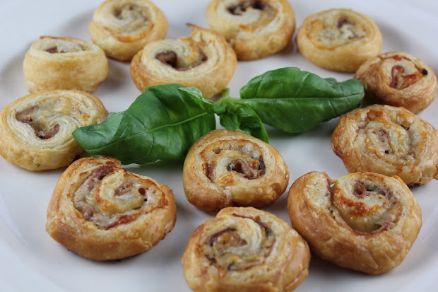Prosciutto Gruy Pinwheels With Homemade Puff