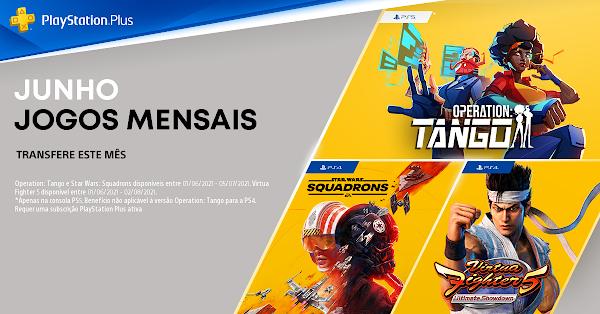 STAR WARS Squadrons, Virtua Fighter 5: Ultimate Showdown e Operation: Tango são os jogos do mês de junho no PlayStation®Plus