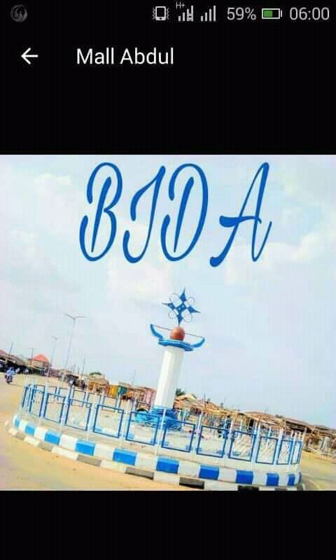 List of Area in bida, how many areas are in bida