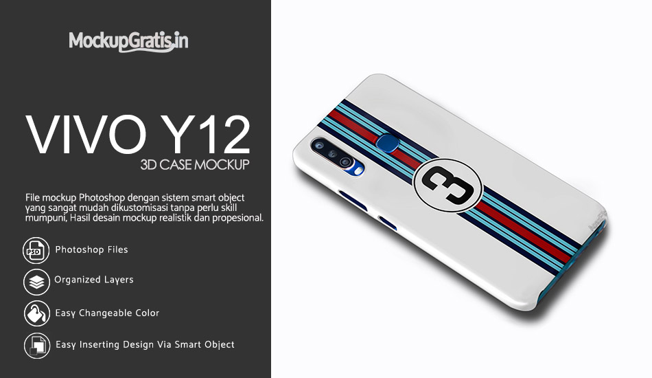 Mockup Custom Case VIVO Y12 Gratis