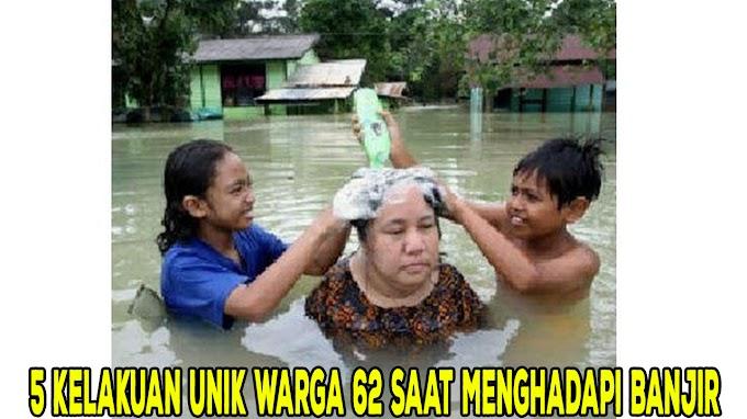 5 Kelakuan Orang Santai Saat Kebanjiran Ini Bikin Tepuk Jidat