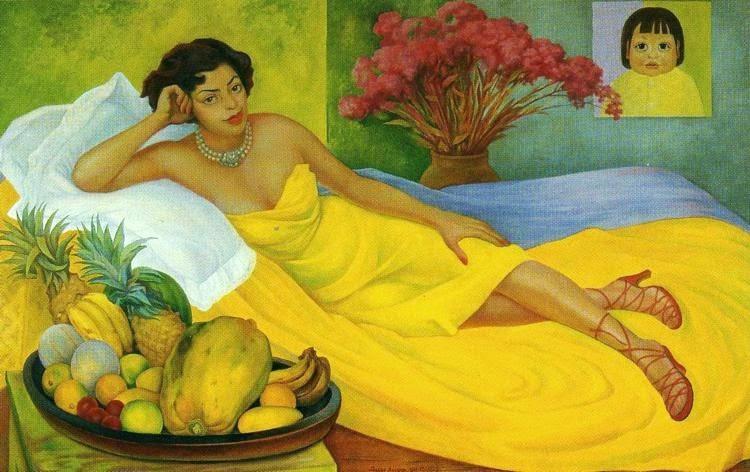 Retrato da Senhora Elena e Flores de Carrillo - Diego Rivera e suas principais pinturas ~ Muralismo mexicano