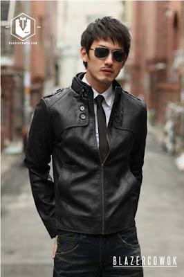 blazer cowok blazercowok.com jaket korean jas pria sk31 black a