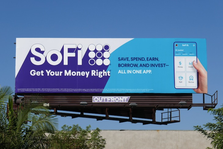 SoFi app Get your money right billboard