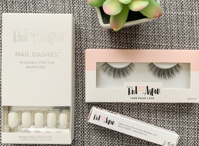 Red Aspen lash and nail review