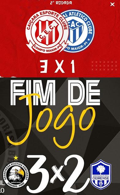 O Piauiense serie B teve rodada dupla, Caiçara vence Comercial e  Corisabbá vence Oeirense