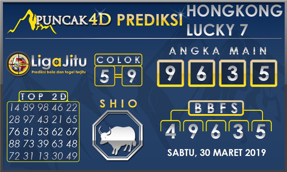 PREDIKSI TOGEL HONGKONG LUCKY7 PUNCAK4D 30 MARET 2019
