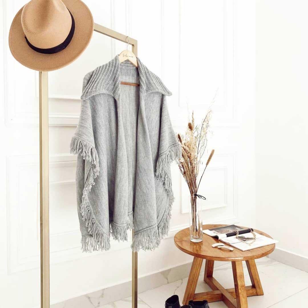 poncho tejido mujer invierno 2021 moda mujer