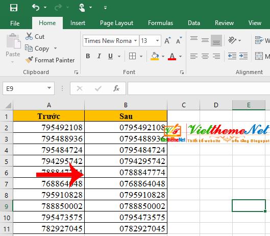 Cách thêm số 0 vào trước dãy số điện thoại hay 1 dãy số bất kỳ chỉ 1 thao tác đơn giản