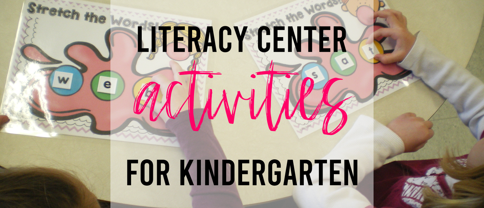 Literacy center activities for Kindergarten with sight word and CVC centers