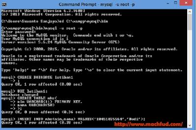 Membuat Database Menggunakan Command Prompt