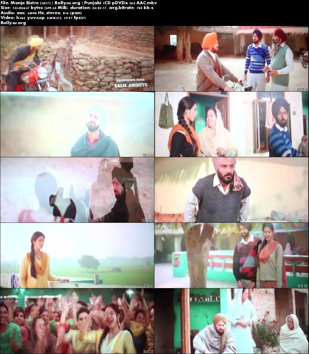 Manje Bistre 2017 Pre-DVDRip 480p Punjabi Movie 350Mb Download