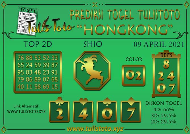 Prediksi Togel HONGKONG TULISTOTO 09 APRIL 2021