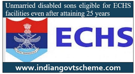 sons eligible for ECHS