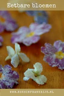 Eetbare bloemen met een suikerlaagje