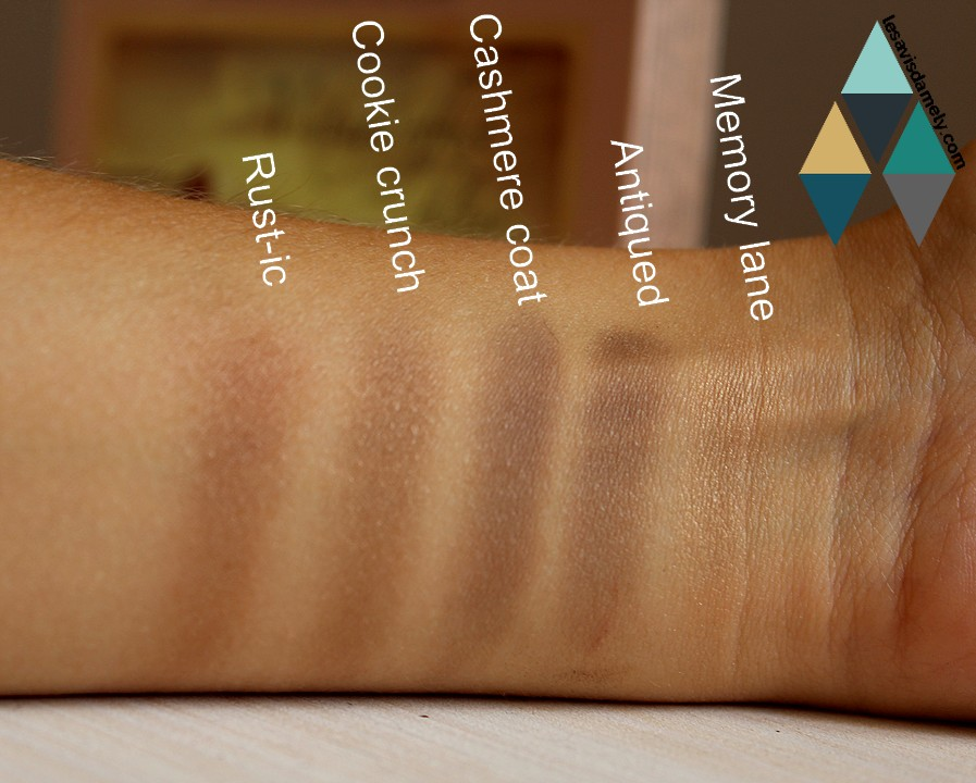 swatches et makeup vintage effect Sephora