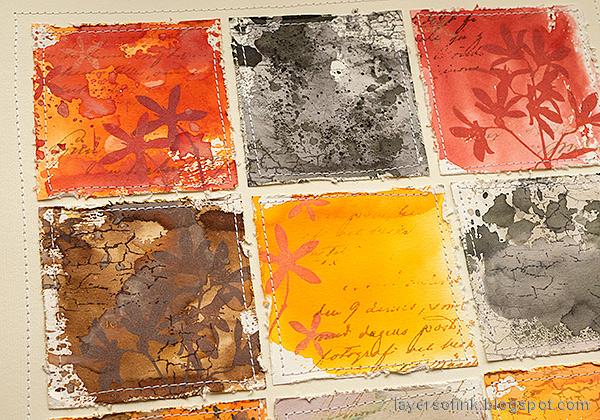 Layers of ink - Ink Blocks Layout Tutorial by Anna-Karin Evaldsson. Stitch the blocks.