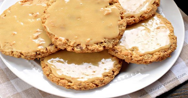 Iced Caramel Toffee Oatmeal Cookies Recipe