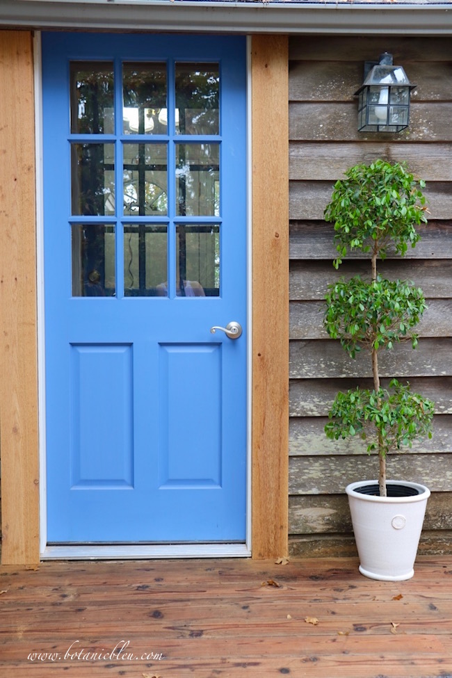 new-blue-wood-back-door-deck