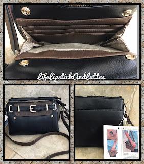 handbag, simply noelle, black, faux leather