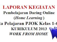 Laporan Pembelajaran Daring Online Mata Pelajaran PJOK Kelas 1-6 SD K-2013