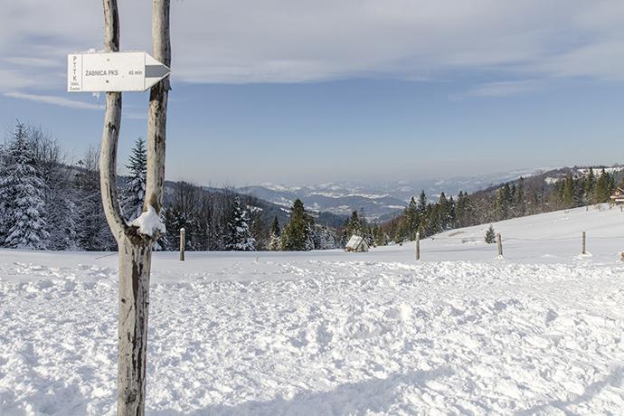 Wędrujemy... Żabnica Skałka - Hala Boracza zimą