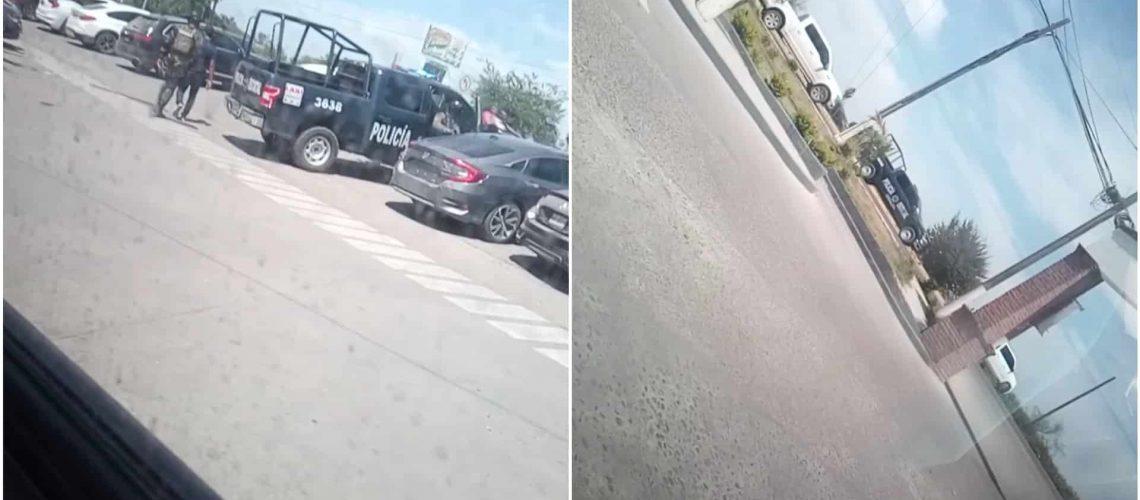 Graban a convoy de Sicarios escoltados por 'Policías' en El Fuerte; Sinaloa