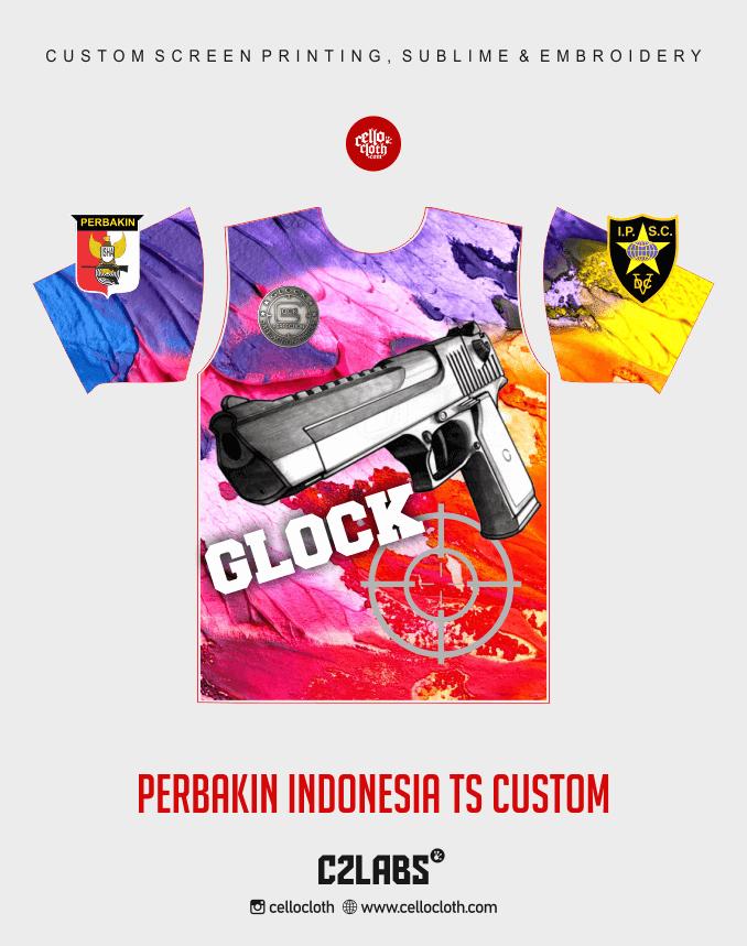 Ts 10 Perbakin Indonesia Baju Kaos Jersey Printing - Vendor Printing Jersey Jogja