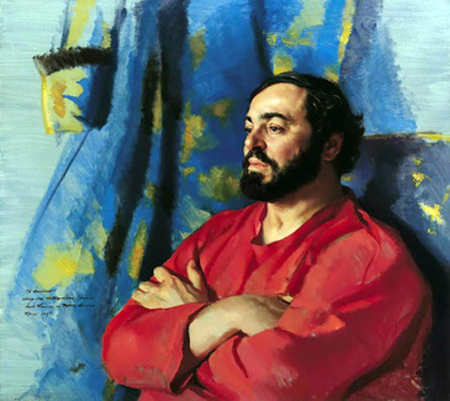 Luciano Pavarotti, Nelson Shanks, International Art Gallery, Self Portrait, Art Gallery, Portraits of Painters, Fine arts, Self-Portraits, Painter Nelson Shanks