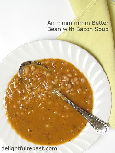 Bean with Bacon Soup / www.delightfulrepast.com