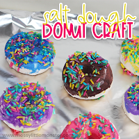 salt dough craft - donut
