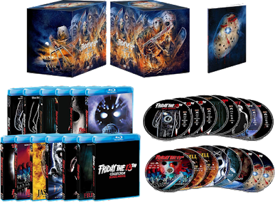 Scream Factory's FRIDAY THE 13TH COLLECTION: DELUXE EDITION comes with everything seen here!
