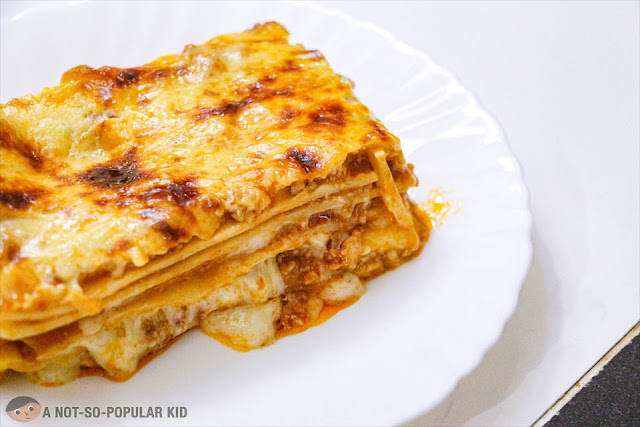A closer look of the lasagna - Eats Good by Nichole Chua